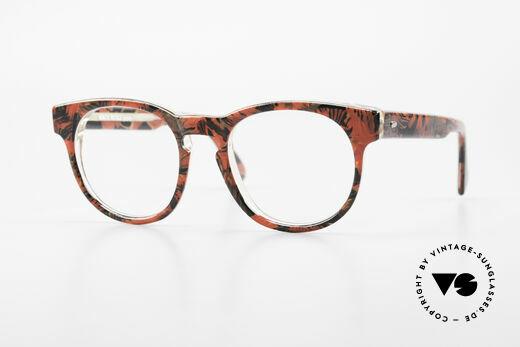 Alain Mikli 903 / 687 Patterned 80's Panto Glasses Details