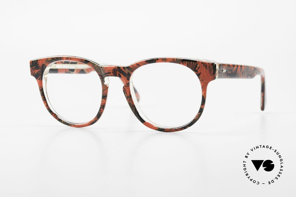 Alain Mikli 903 / 687 Patterned 80's Panto Glasses, timeless vintage Alain Mikli designer eyeglasses, Made for Men and Women