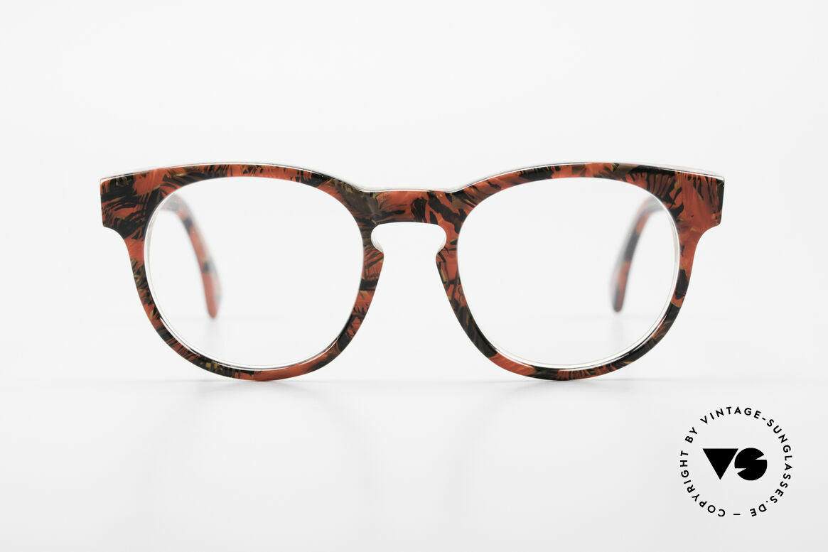 Alain Mikli 903 / 687 Patterned 80's Panto Glasses, classic 'panto'-design with an interesting pattern, Made for Men and Women