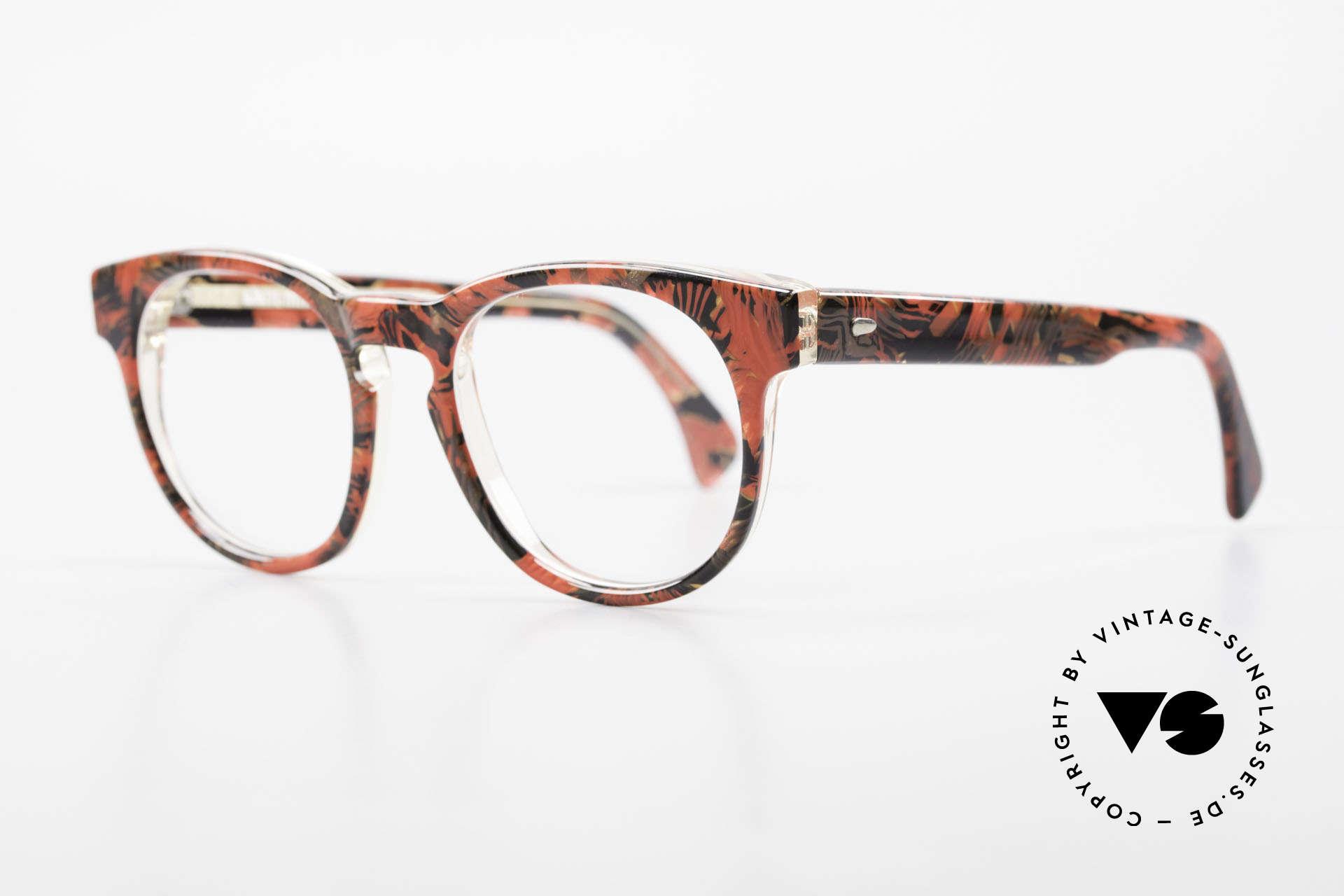 Alain Mikli 903 / 687 Patterned 80's Panto Glasses, inspired by the 1960's 'Tart Optical Arnel' frames, Made for Men and Women