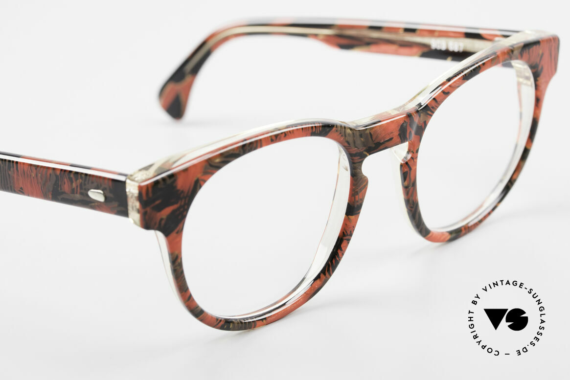 Alain Mikli 903 / 687 Patterned 80's Panto Glasses, never worn (like all our vintage Alain Mikli specs), Made for Men and Women