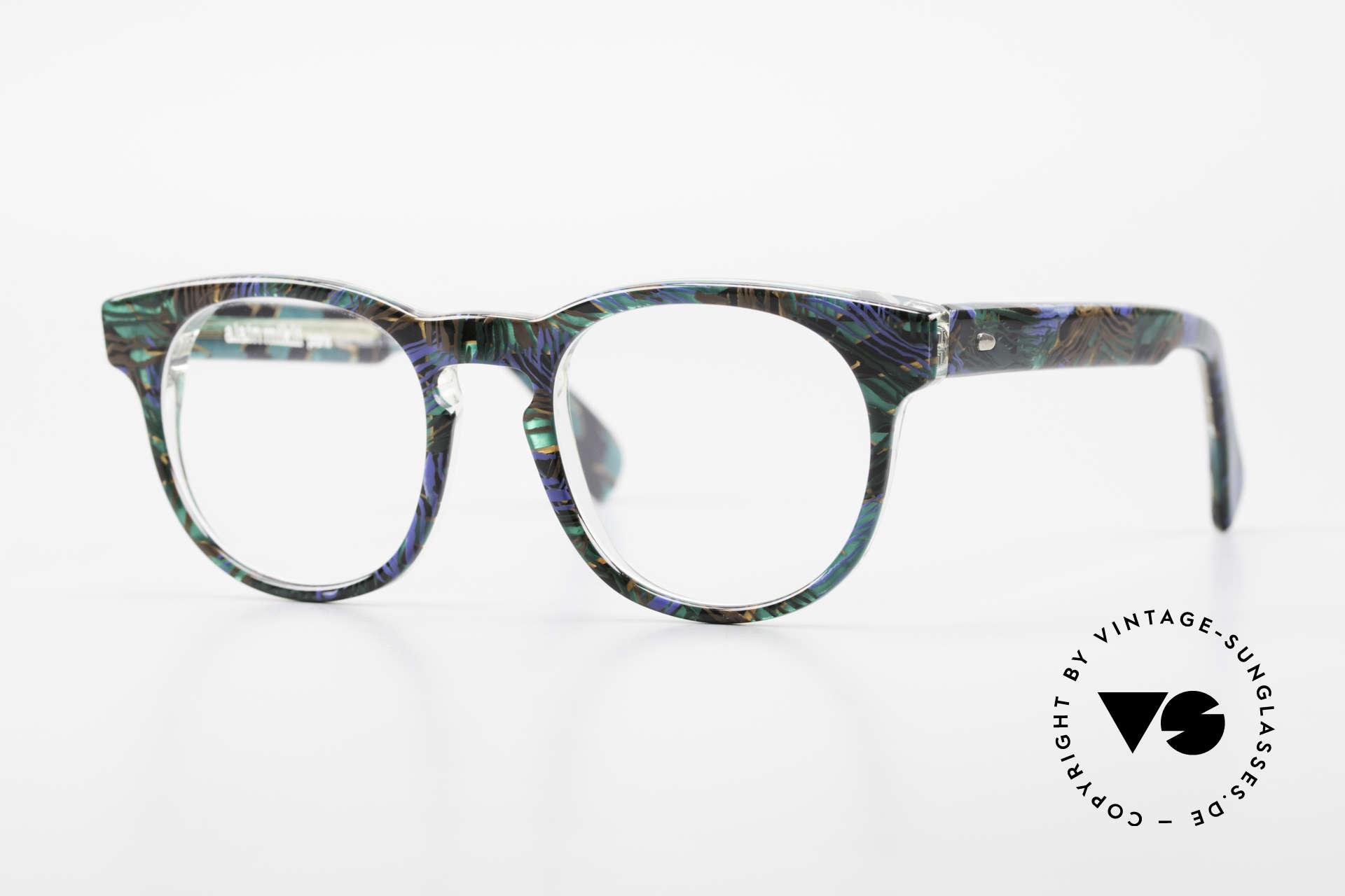Alain Mikli 903 / 688 Panto Frame 80's Patterned, timeless vintage Alain Mikli designer eyeglasses, Made for Men and Women