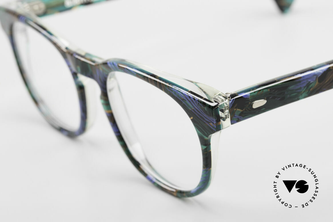 Alain Mikli 903 / 688 Panto Frame 80's Patterned, handmade quality: green/blue/black/brown marbled, Made for Men and Women