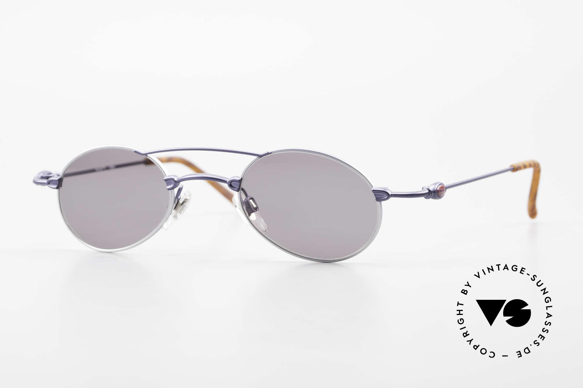 Bugatti 10864 Oval Vintage Sunglasses Men, wispy & leightweight designer sunglasses by Bugatti, Made for Men