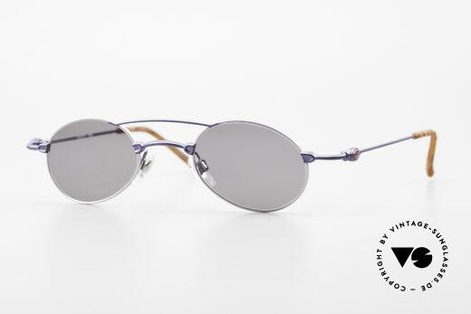Bugatti 10864 Oval Vintage Sunglasses Men Details