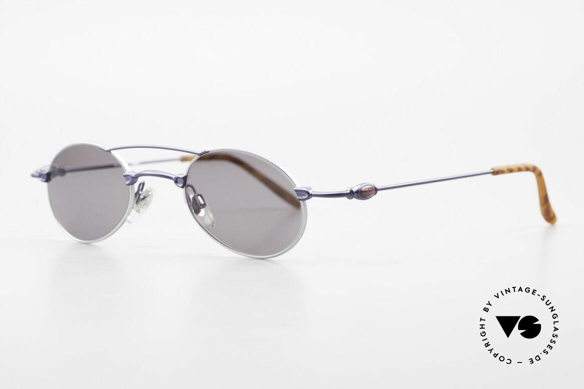 Bugatti 10864 Oval Vintage Sunglasses Men, classic and timeless design (gentlemen's sunglasses), Made for Men
