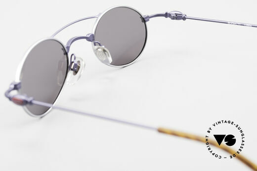 Bugatti 10864 Oval Vintage Sunglasses Men, gray sun lenses could be replaced with optical lenses, Made for Men