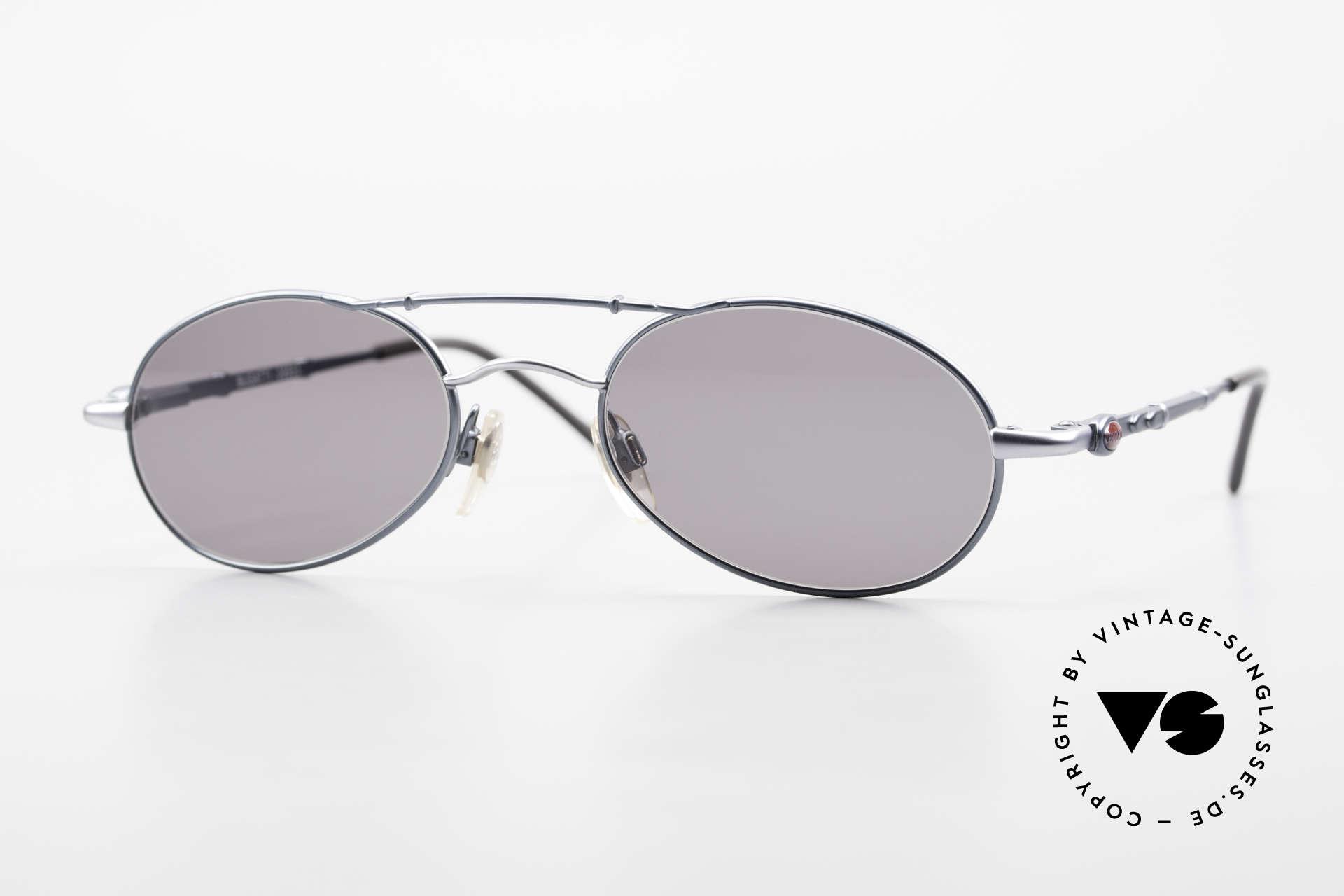 Bugatti 09953 Leaf Spring Temples and Bridge, classic Bugatti sunglasses from app. 1995/96, Made for Men