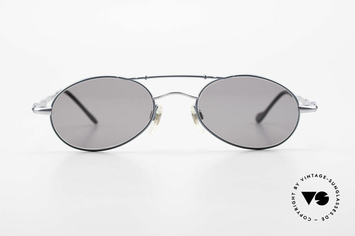 Bugatti 09953 Leaf Spring Temples and Bridge, oval metal glasses with flexible spring hinges, Made for Men