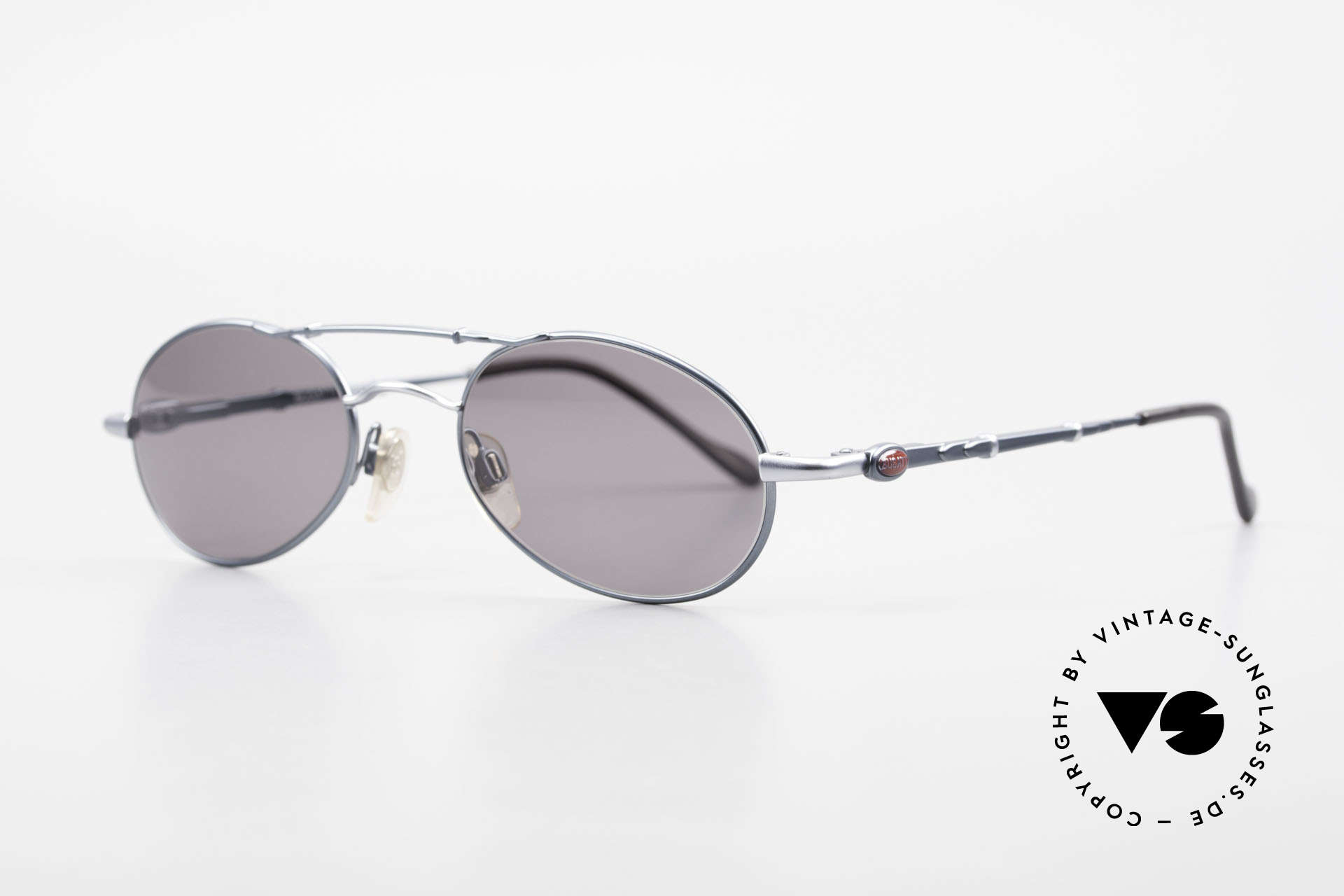 """Bugatti 09953 Leaf Spring Temples and Bridge, very noble frame finish in """"navy blue metallic"""", Made for Men"""