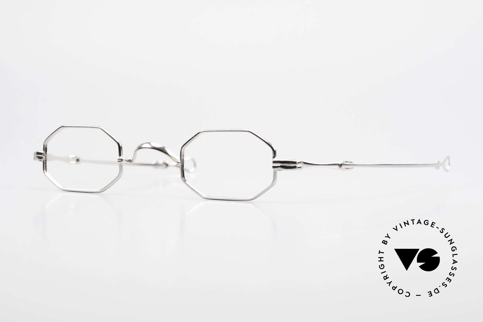 "Lunor I 01 Telescopic Extendable Octagonal Frame, Lunor: shortcut for French ""Lunette d'Or"" (gold glasses), Made for Men and Women"