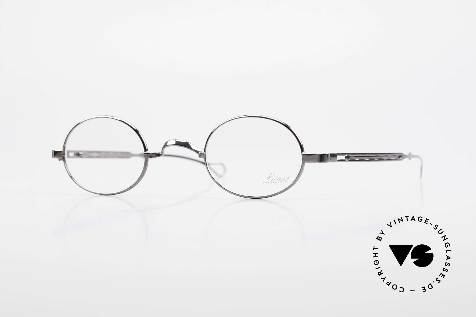 """Lunor I 22 Telescopic Oval Frame Extendable Arms, Lunor: shortcut for French """"Lunette d'Or"""" (gold glasses), Made for Men and Women"""
