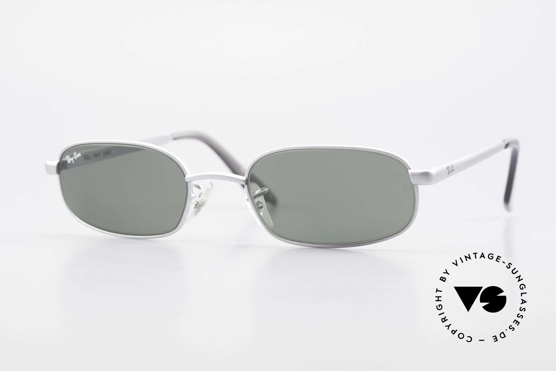 "Ray Ban Sidestreet Sidewalk Rectangle Ray Ban USA Shades, old Ray-Ban 'SideStreet-Series"" sunglasses from 1999, Made for Men"