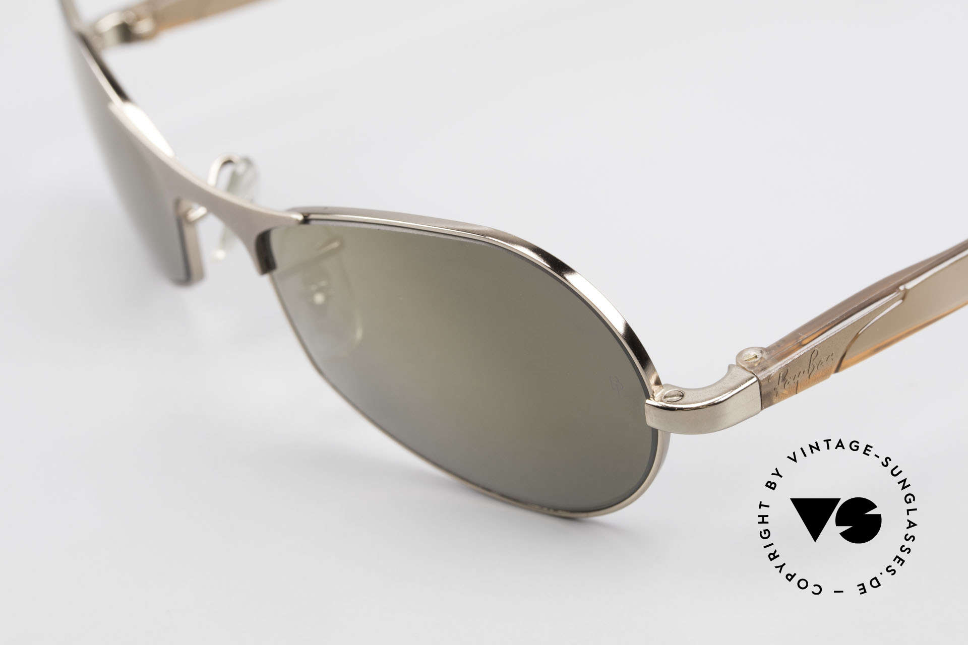 "Ray Ban Sidestreet Infinity Gold Mirrored USA Ray-Ban B&L, still ""made in USA"" quality (mineral lenses by B&L), Made for Men"