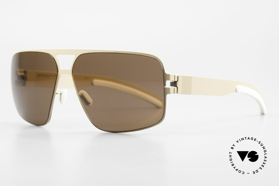 Mykita Tyrone 2011's Mykita Vintage Shades, Model No.1 Sun Tyrone Nude, brown solid, size 60/12, Made for Men
