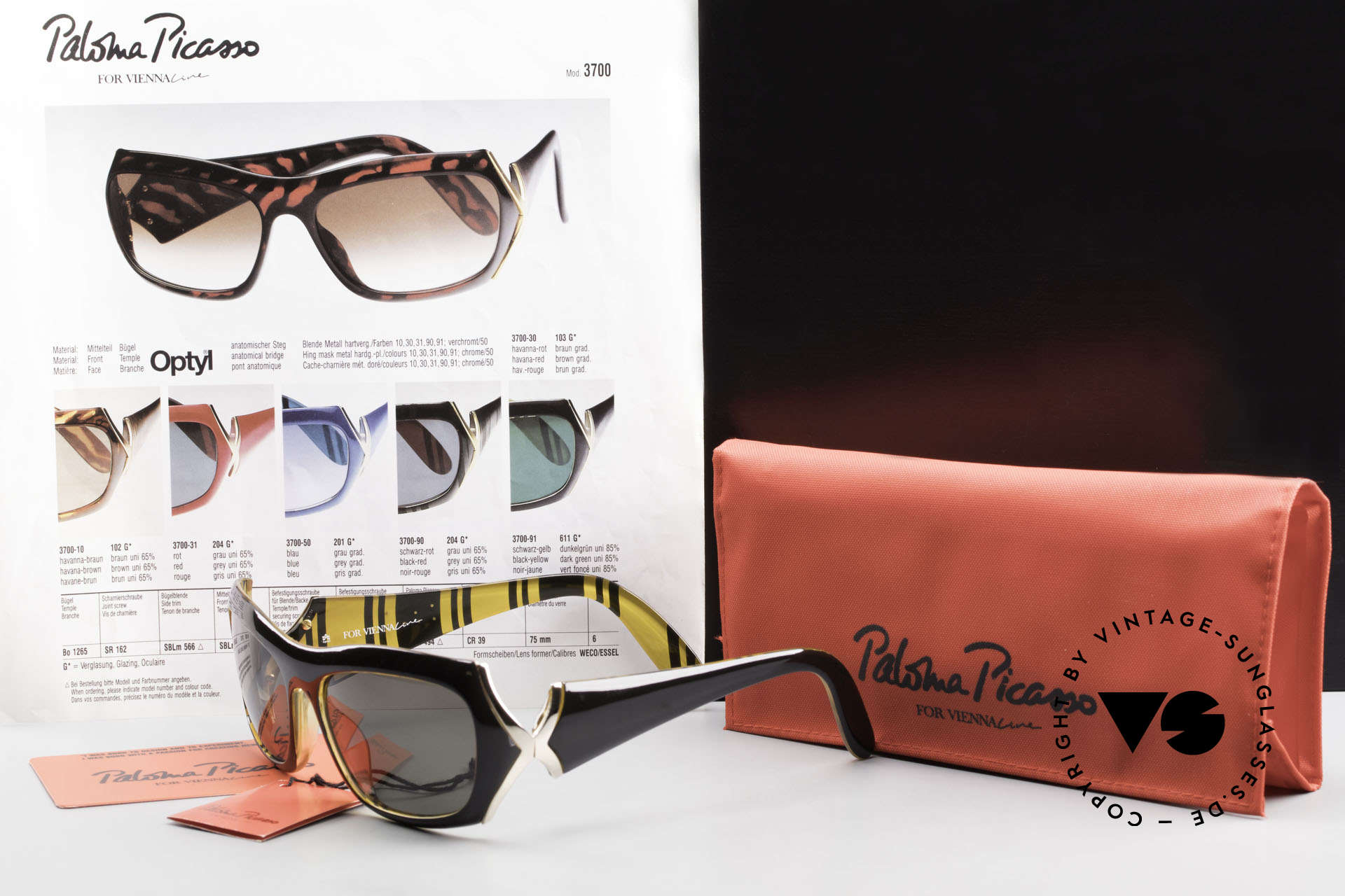 Paloma Picasso 3700 90's Ladies Designer Shades, Size: small, Made for Women