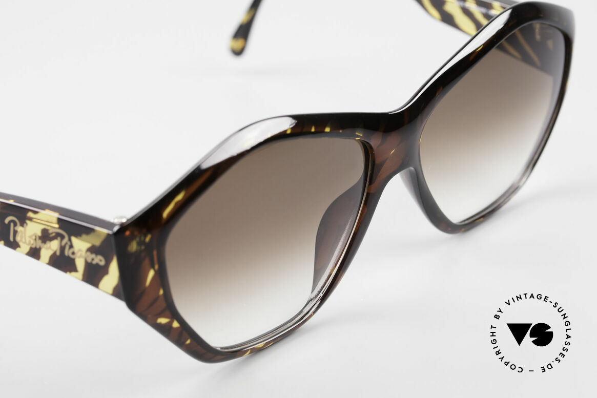 Paloma Picasso 1463 90's Optyl Sunglasses Ladies, fancy gimmick: the case can be used as wallet, too, Made for Women