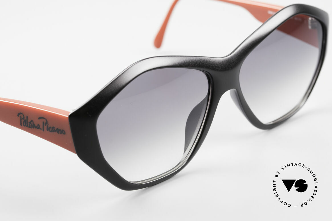 Paloma Picasso 1463 Ladies Sunglasses 90's Optyl, fancy gimmick: the case can be used as wallet, too, Made for Women