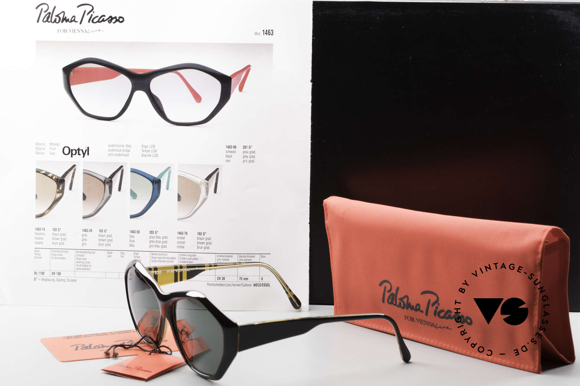 Paloma Picasso 1463 90's Ladies Sunglasses Optyl, Size: medium, Made for Women
