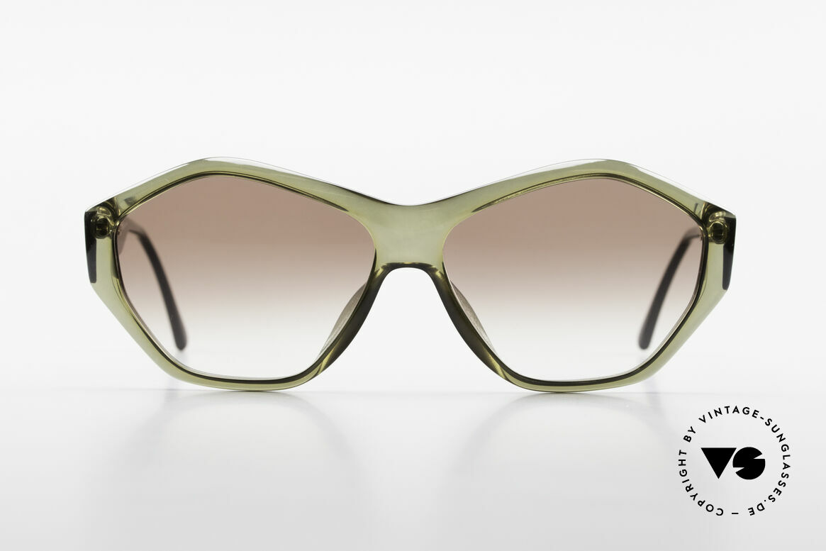 Paloma Picasso 1463 90's Optyl Ladies Sunglasses, spectacular frame design with an interesting tint, Made for Women