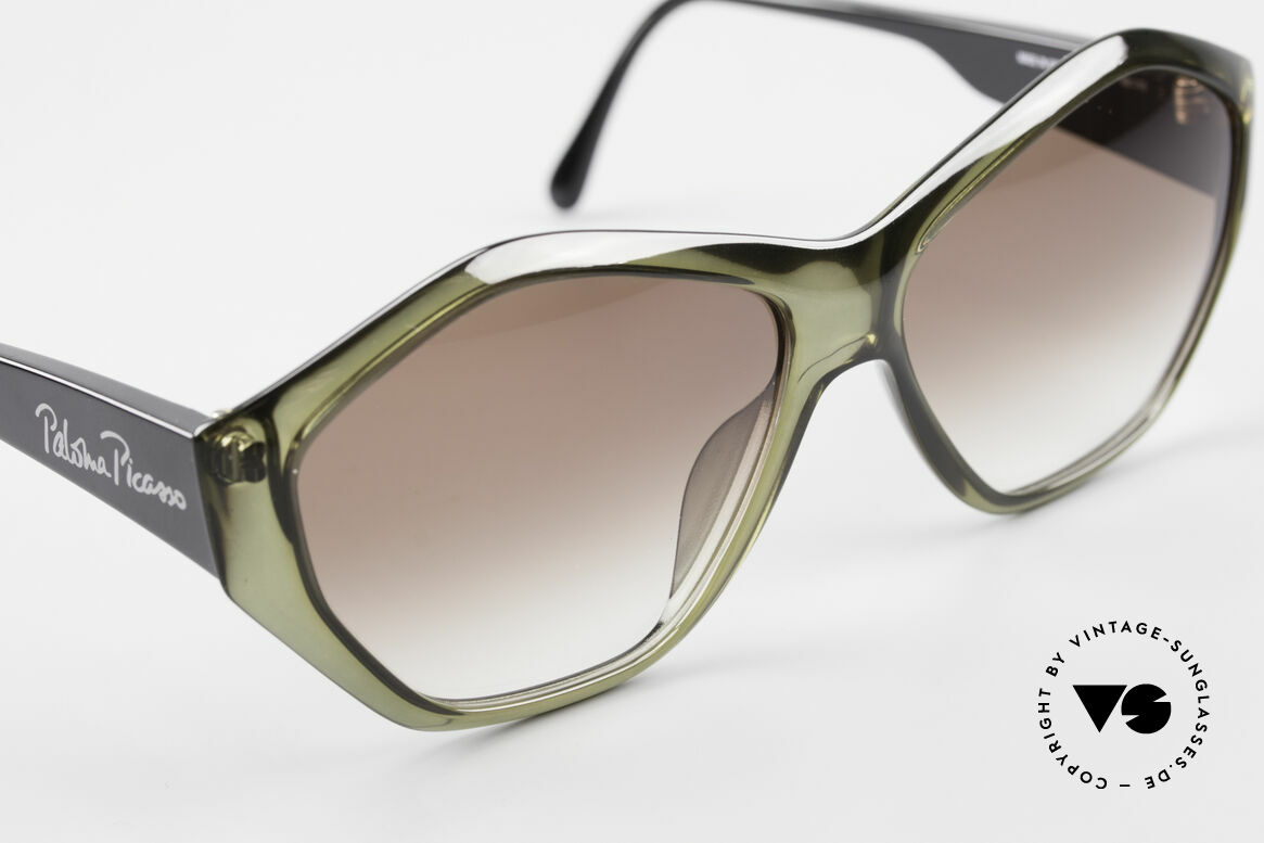 Paloma Picasso 1463 90's Optyl Ladies Sunglasses, fancy gimmick: the case can be used as wallet, too, Made for Women