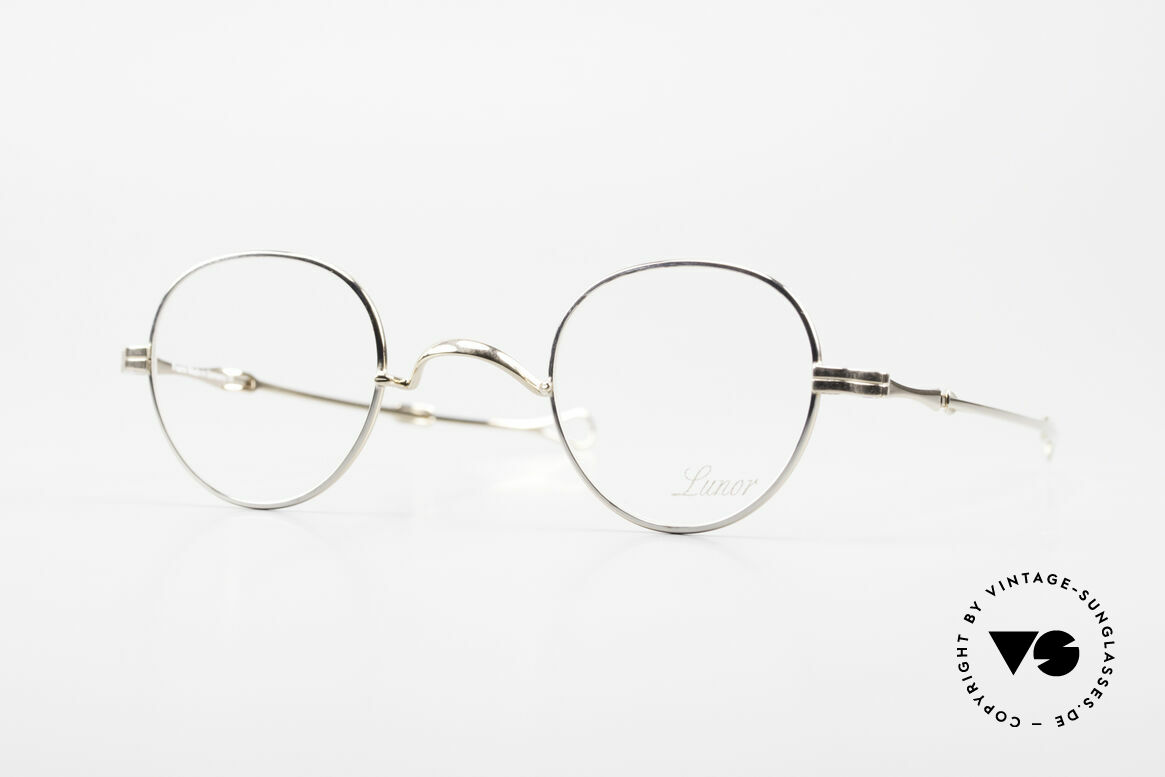 """Lunor I 15 Telescopic Extendable Slide Temple, Lunor: shortcut for French """"Lunette d'Or"""" (gold glasses), Made for Men and Women"""