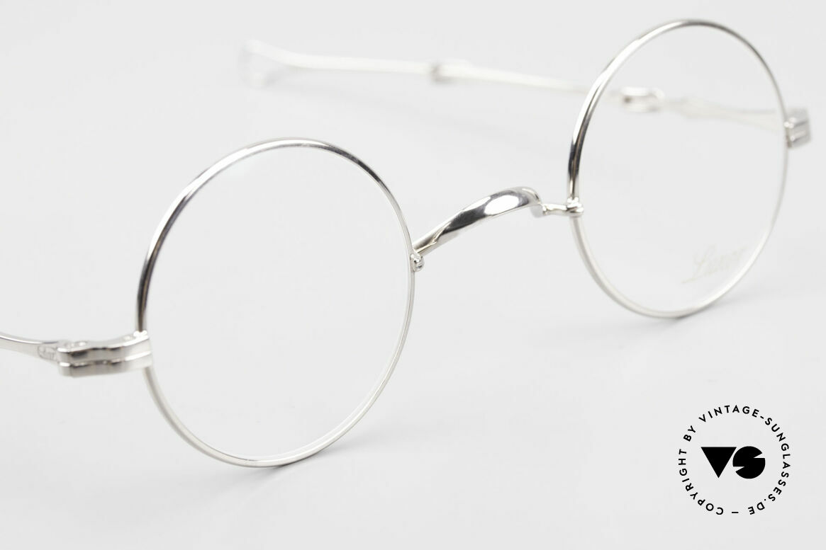 Lunor I 12 Telescopic Round Glasses Slide Temples, unworn RARITY (for all lovers of quality) from app. 1999, Made for Men and Women