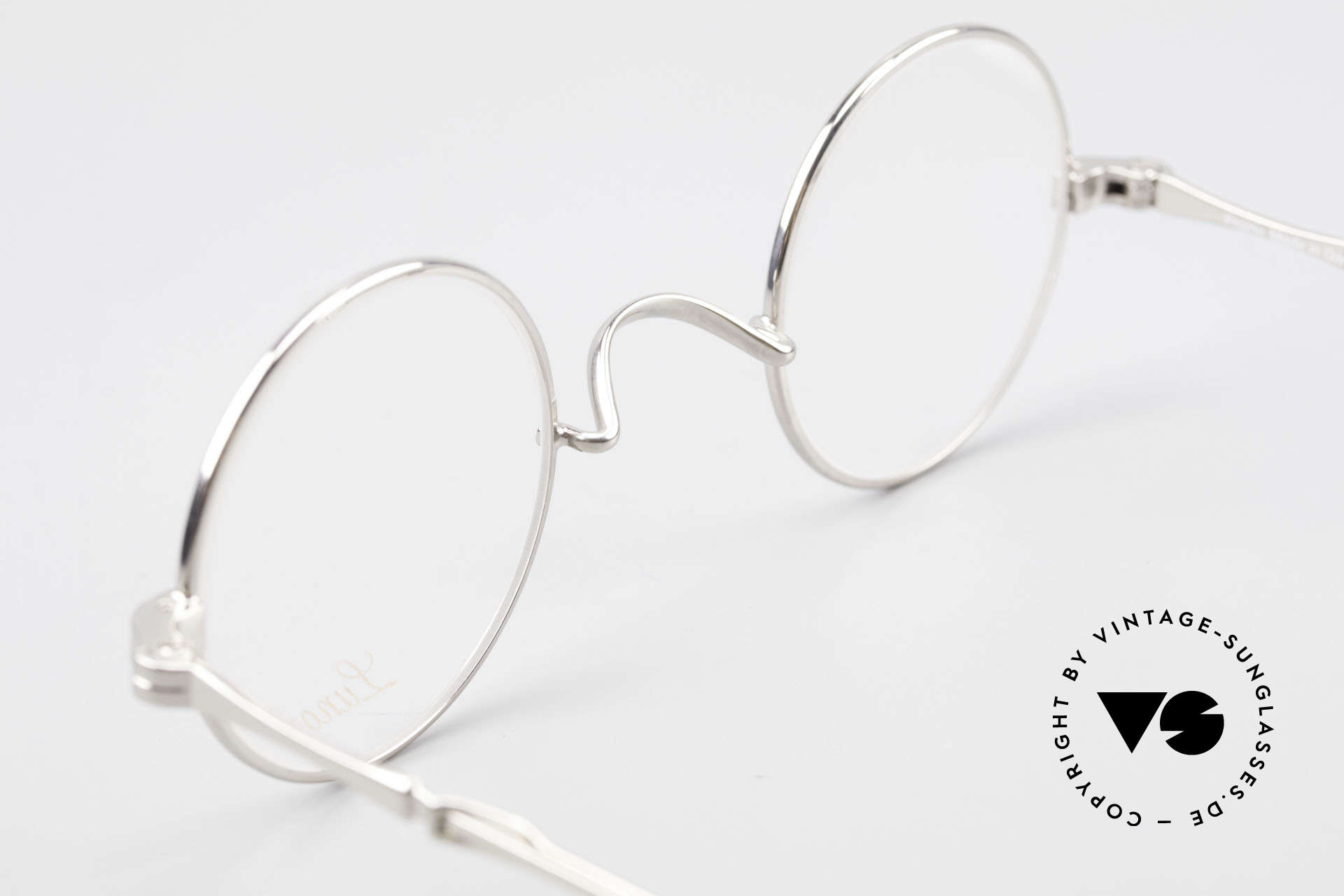 Lunor I 12 Telescopic Round Glasses Slide Temples, Size: extra small, Made for Men and Women