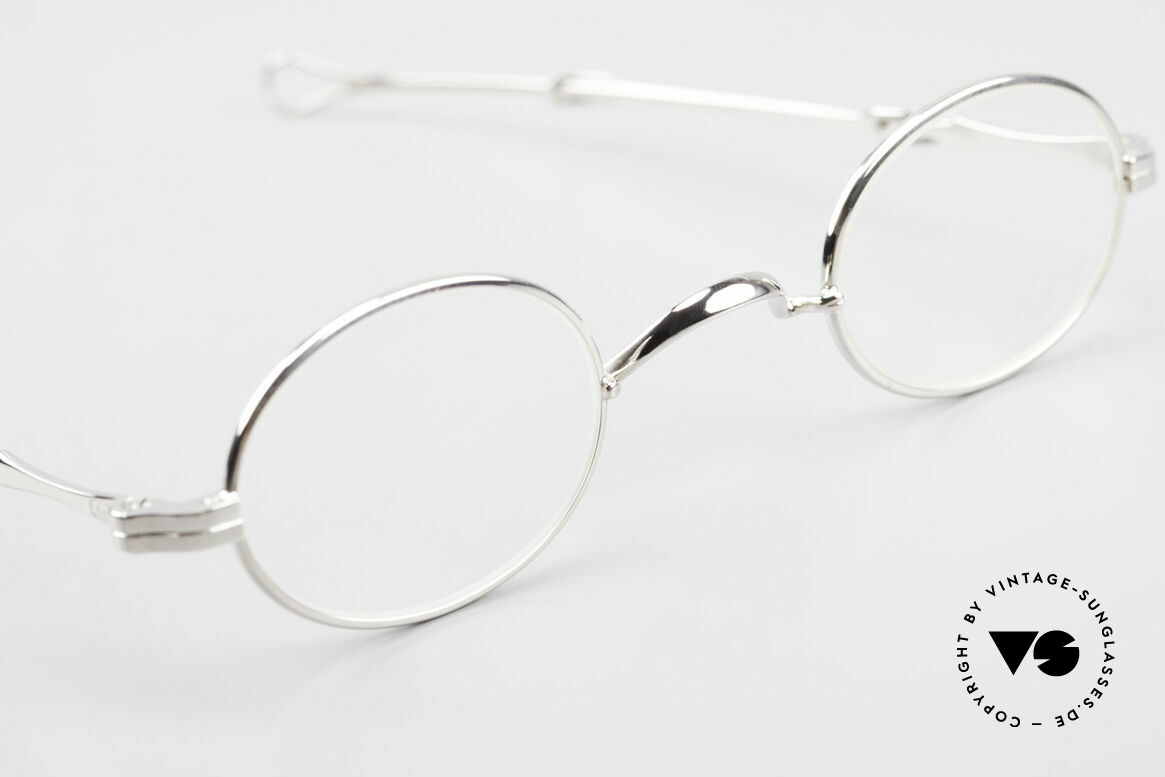 Lunor I 04 Telescopic Oval XS Glasses Slide Temples, unworn RARITY (for all lovers of quality) from app. 1999, Made for Men and Women