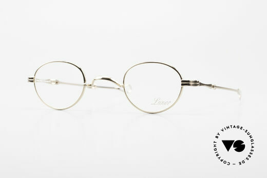 Lunor I 03 Telescopic Gold Plated With Slide Temples Details