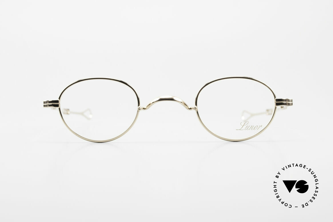 Lunor I 03 Telescopic Gold Plated With Slide Temples, traditional German brand; quality handmade in Germany, Made for Men and Women
