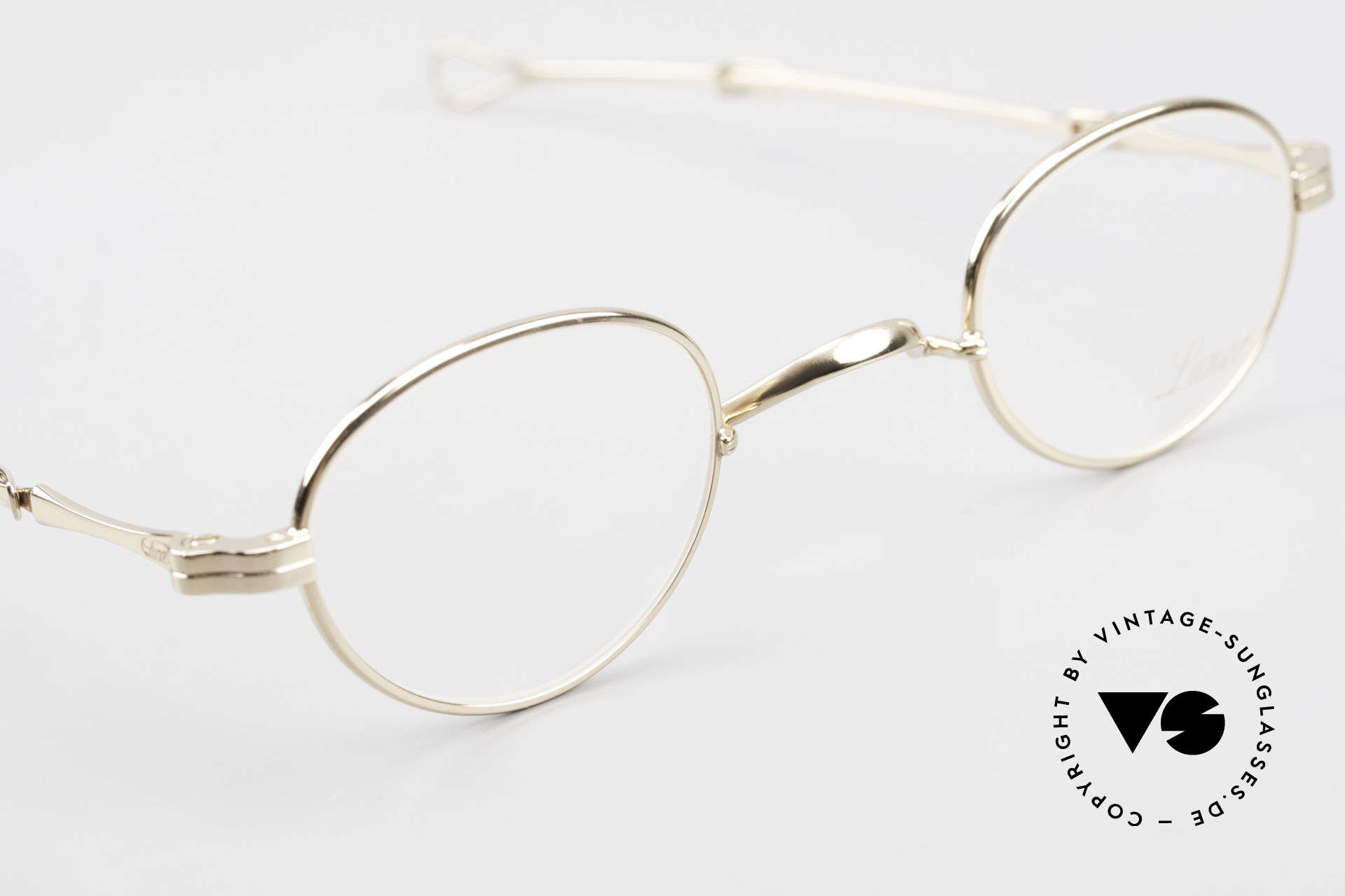 Lunor I 03 Telescopic Gold Plated With Slide Temples, unworn RARITY (for all lovers of quality) from app. 1999, Made for Men and Women