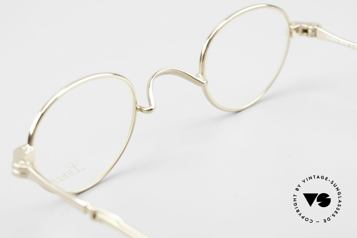 Lunor I 03 Telescopic Gold Plated With Slide Temples, Size: extra small, Made for Men and Women