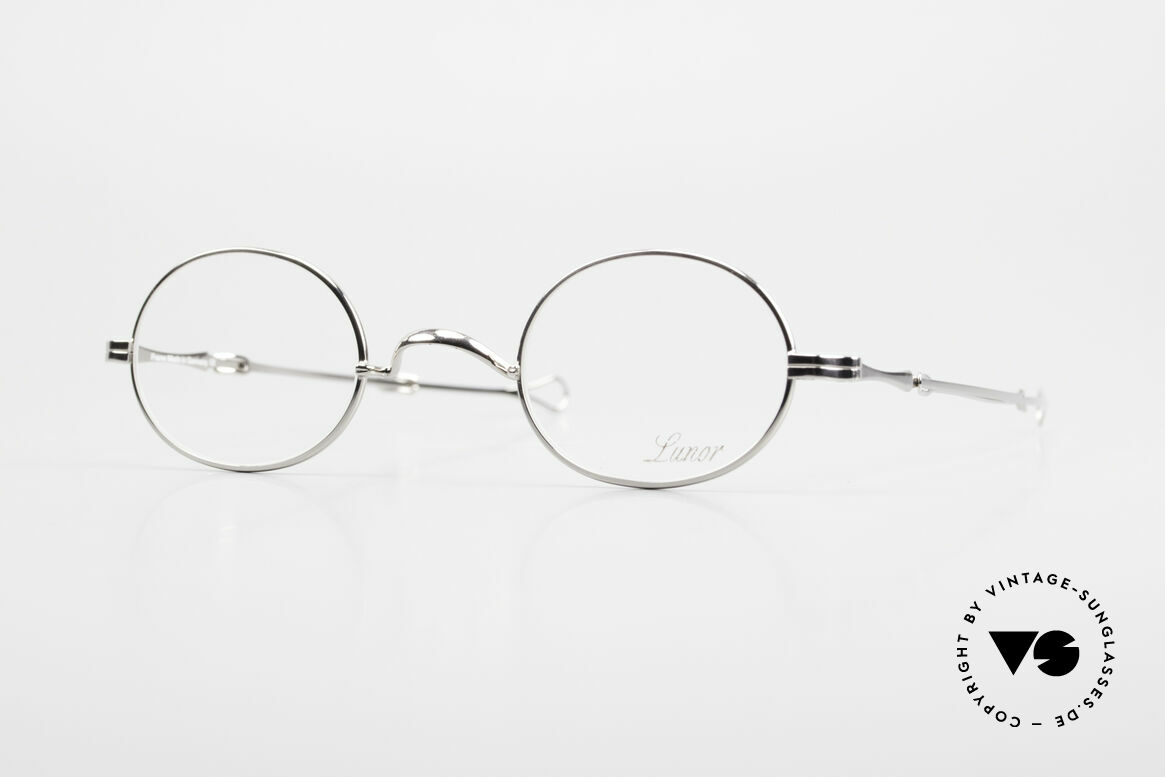 """Lunor I 10 Telescopic Oval Eyeglasses Slide Temples, Lunor: shortcut for French """"Lunette d'Or"""" (gold glasses), Made for Men and Women"""