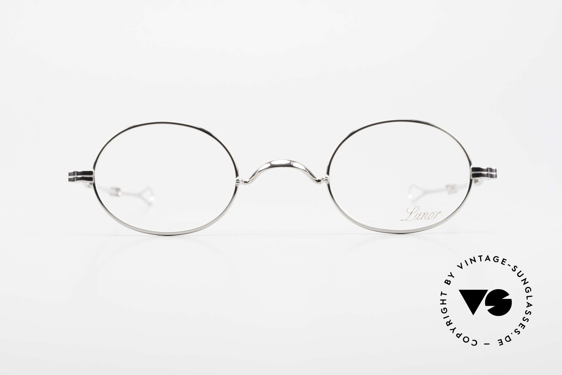 Lunor I 10 Telescopic Oval Eyeglasses Slide Temples, traditional German brand; quality handmade in Germany, Made for Men and Women