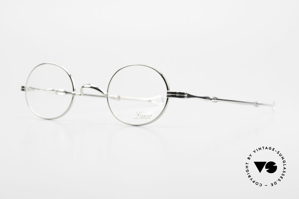 """Lunor I 10 Telescopic Oval Eyeglasses Slide Temples, well-known for the """"W-bridge"""" & the plain frame designs, Made for Men and Women"""
