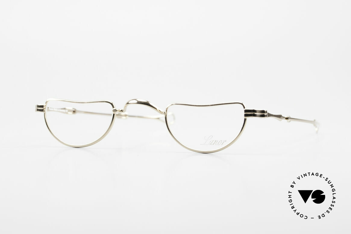 """Lunor I 07 Telescopic Extendable Gold Plated Glasses, Lunor: shortcut for French """"Lunette d'Or"""" (gold glasses), Made for Men and Women"""