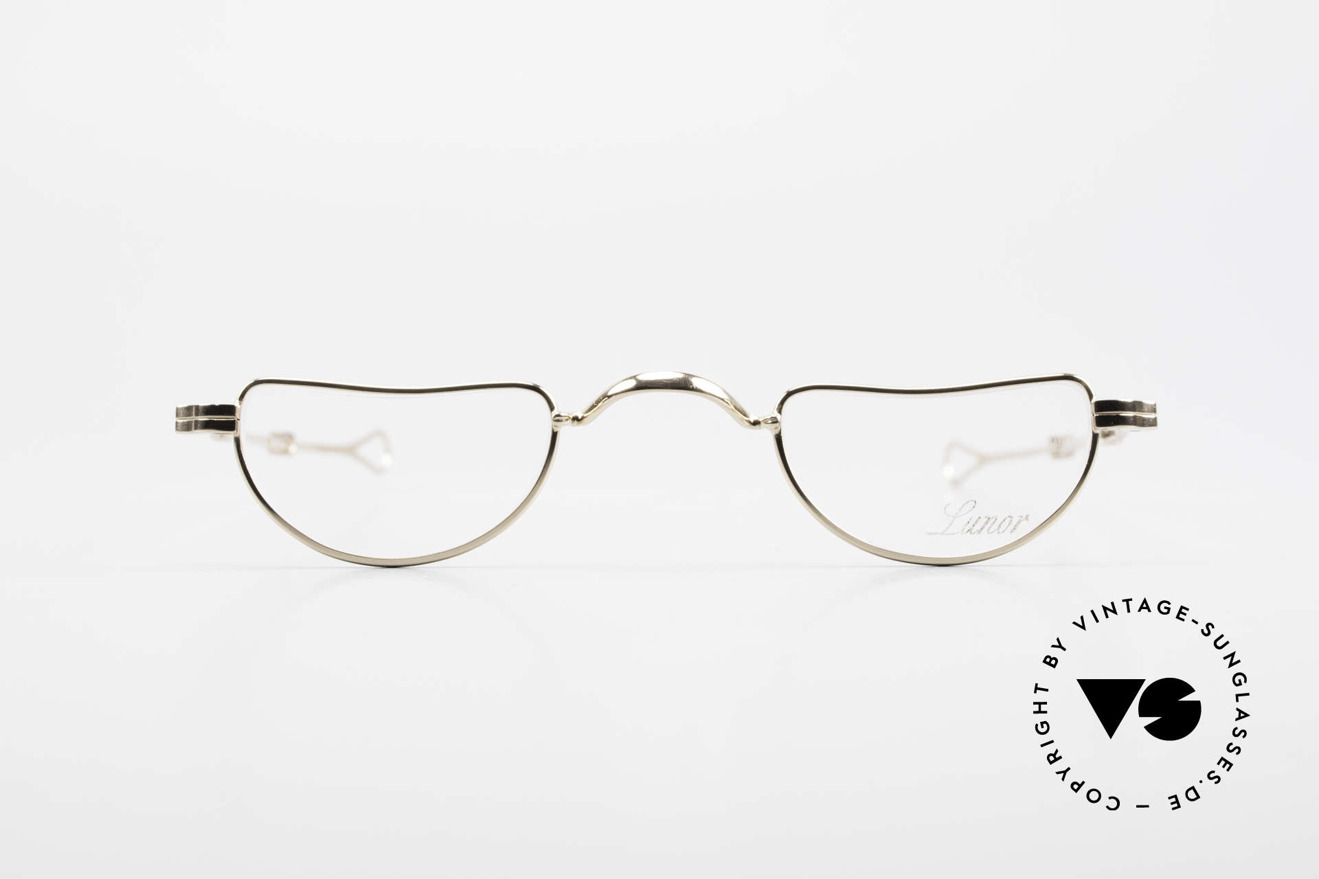 Lunor I 07 Telescopic Extendable Gold Plated Glasses, traditional German brand; quality handmade in Germany, Made for Men and Women