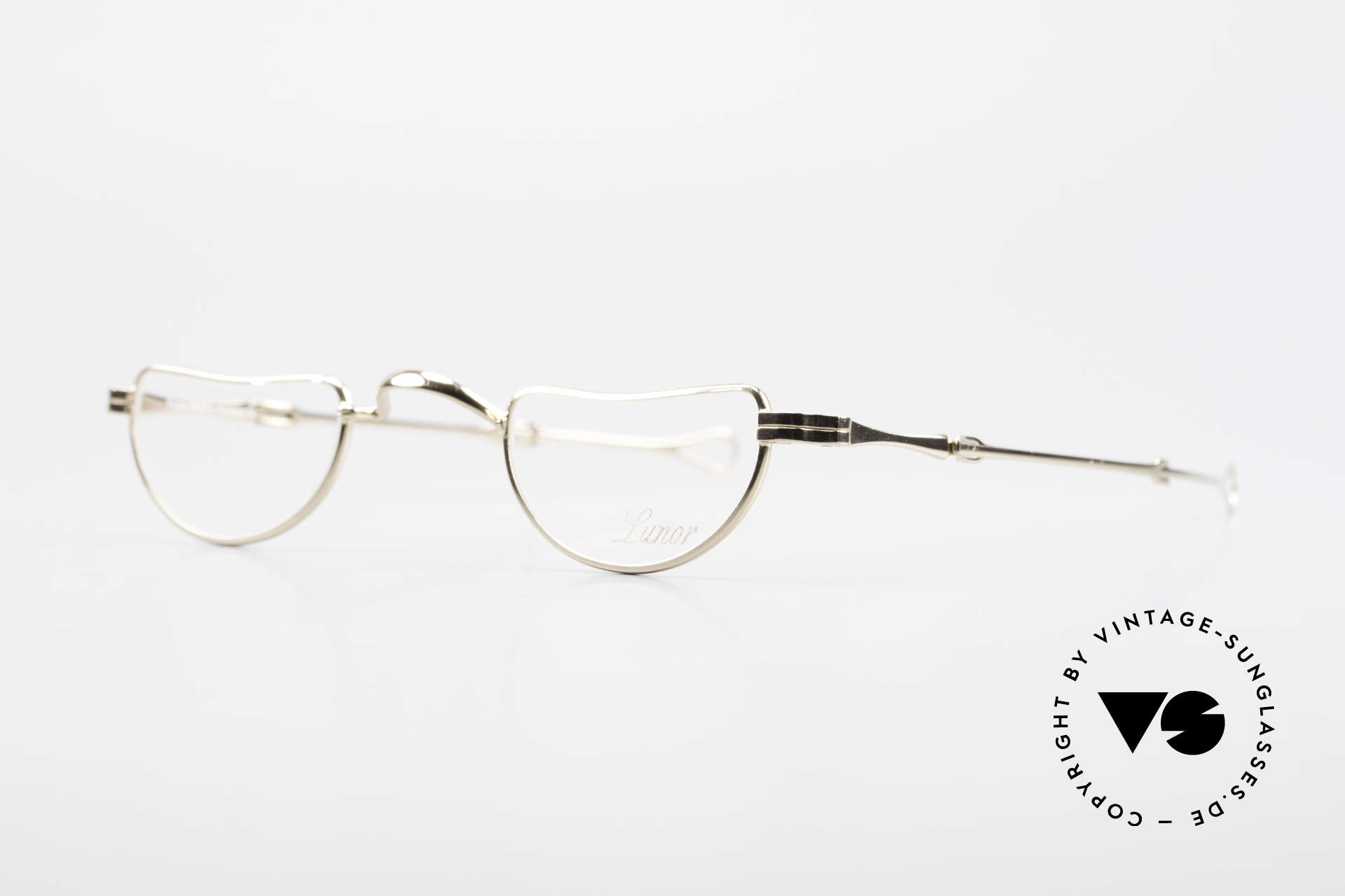 """Lunor I 07 Telescopic Extendable Gold Plated Glasses, well-known for the """"W-bridge"""" & the plain frame designs, Made for Men and Women"""