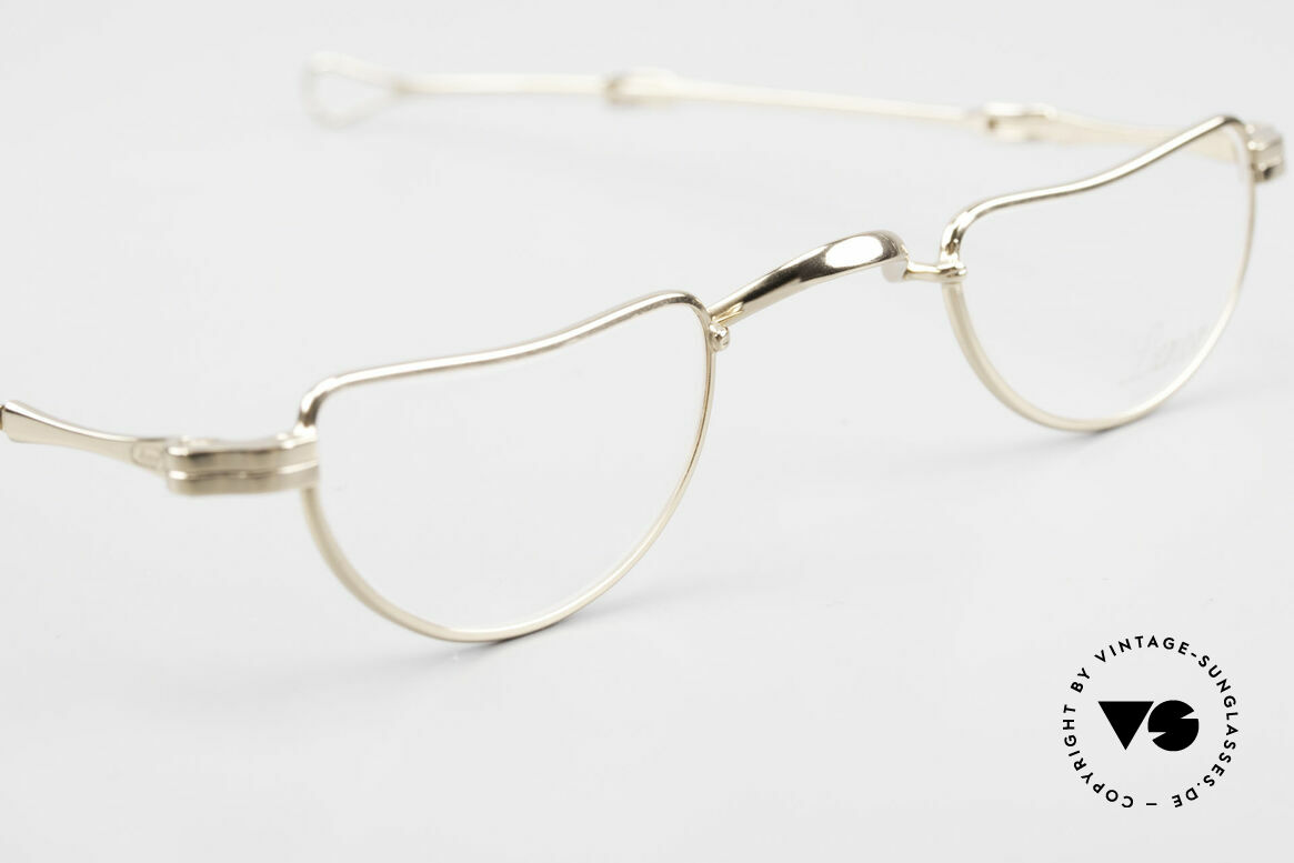 Lunor I 07 Telescopic Extendable Gold Plated Glasses, unworn RARITY (for all lovers of quality) from app. 1999, Made for Men and Women