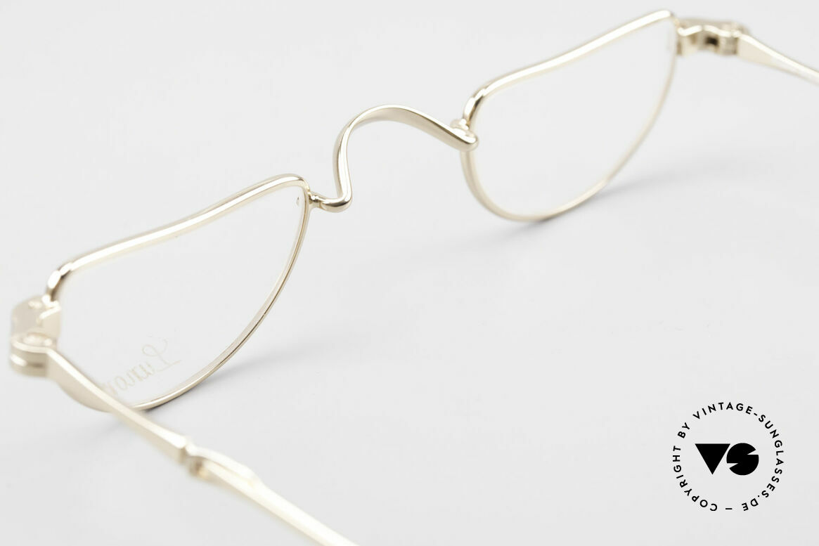 Lunor I 07 Telescopic Extendable Gold Plated Glasses, Size: extra small, Made for Men and Women