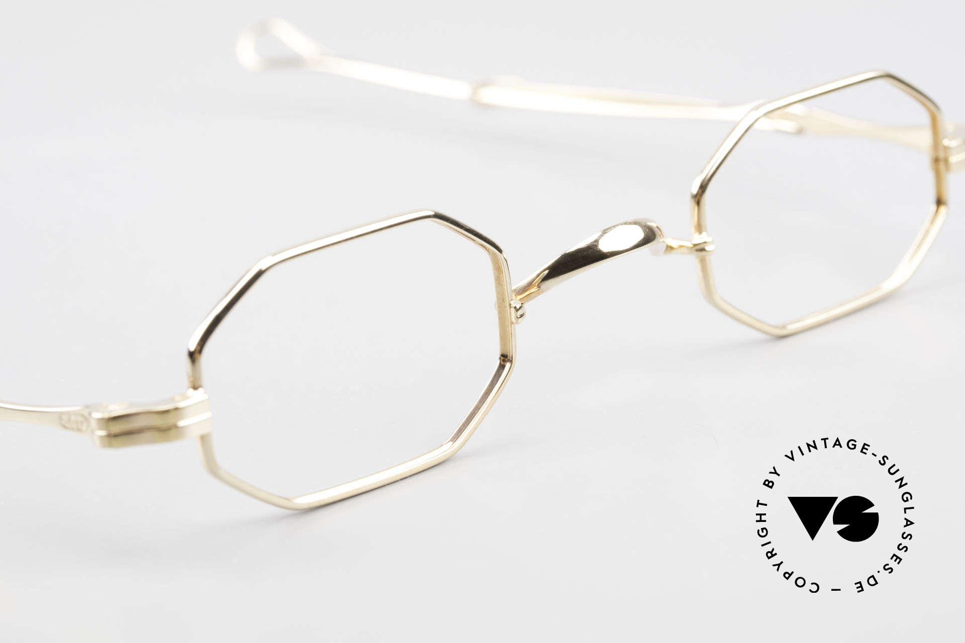 Lunor I 01 Telescopic Octagonal Frame Gold Plated, unworn RARITY (for all lovers of quality) from app. 1996, Made for Men and Women