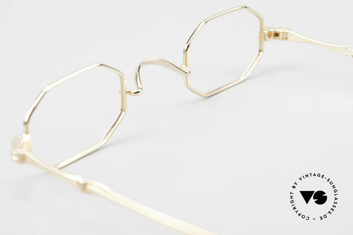 Lunor I 01 Telescopic Octagonal Frame Gold Plated, Size: extra small, Made for Men and Women