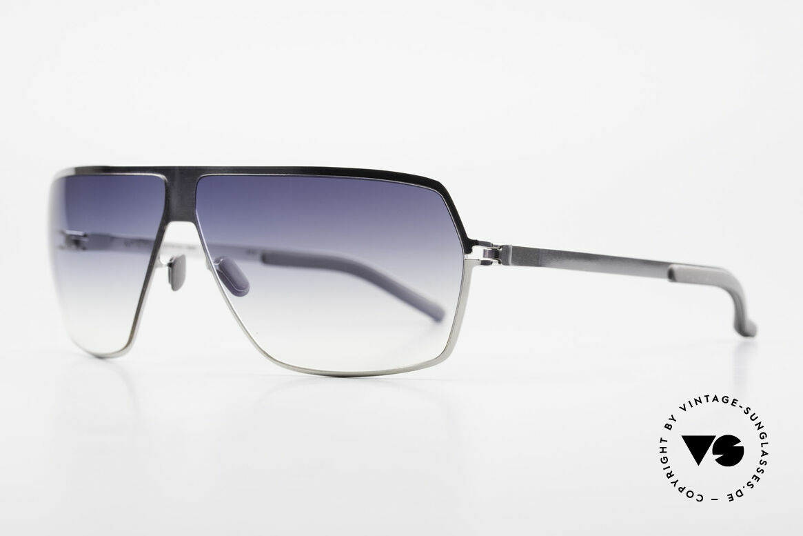 Mykita Rock No1 Designer Sunglasses 2009, Mod. No.1 Rock Shinysilver, blue-gradient, L size 67/09, Made for Men