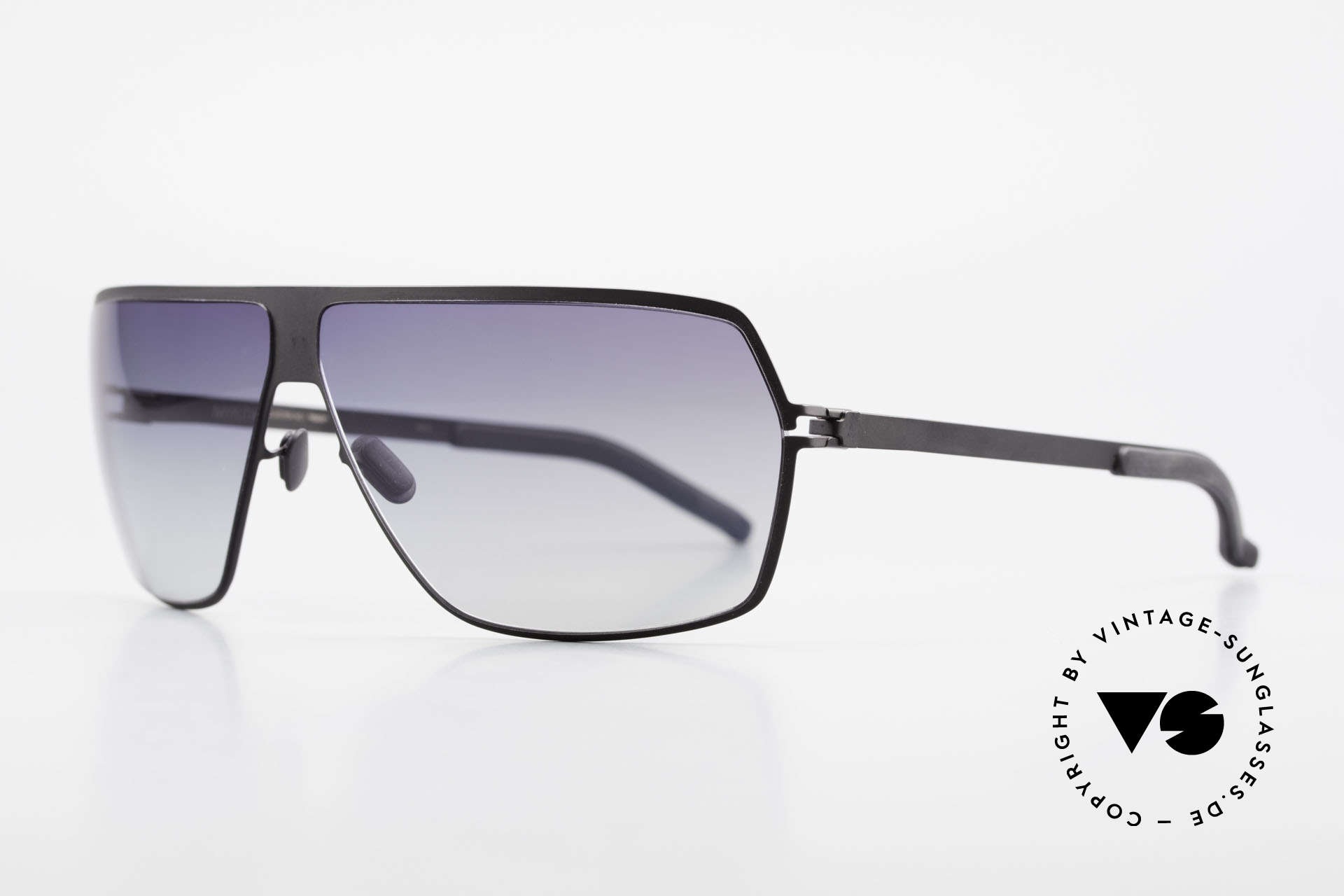 Mykita Rock No1 Men's Sunglasses 2009, Model No.1 Rock Black, black-gradient, in L size 67/09, Made for Men