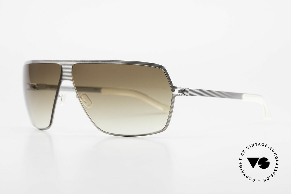 Mykita Rock No1 Collection Sunglasses 2009, Mod. No.1 Rock Silverline, olive-gradient, L size 67/09, Made for Men