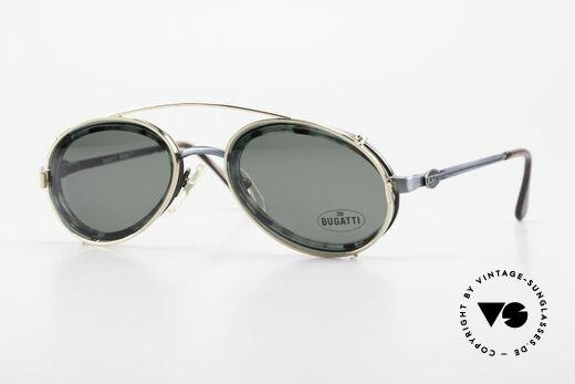 Bugatti 05728T 90's Men's Eyeglasses Sun Clip Details