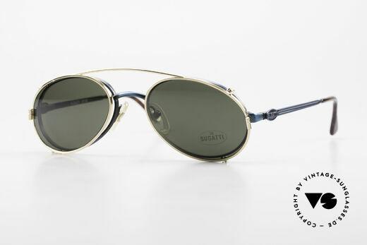 Bugatti 05728 Rare 90's Eyeglasses Clip On Details