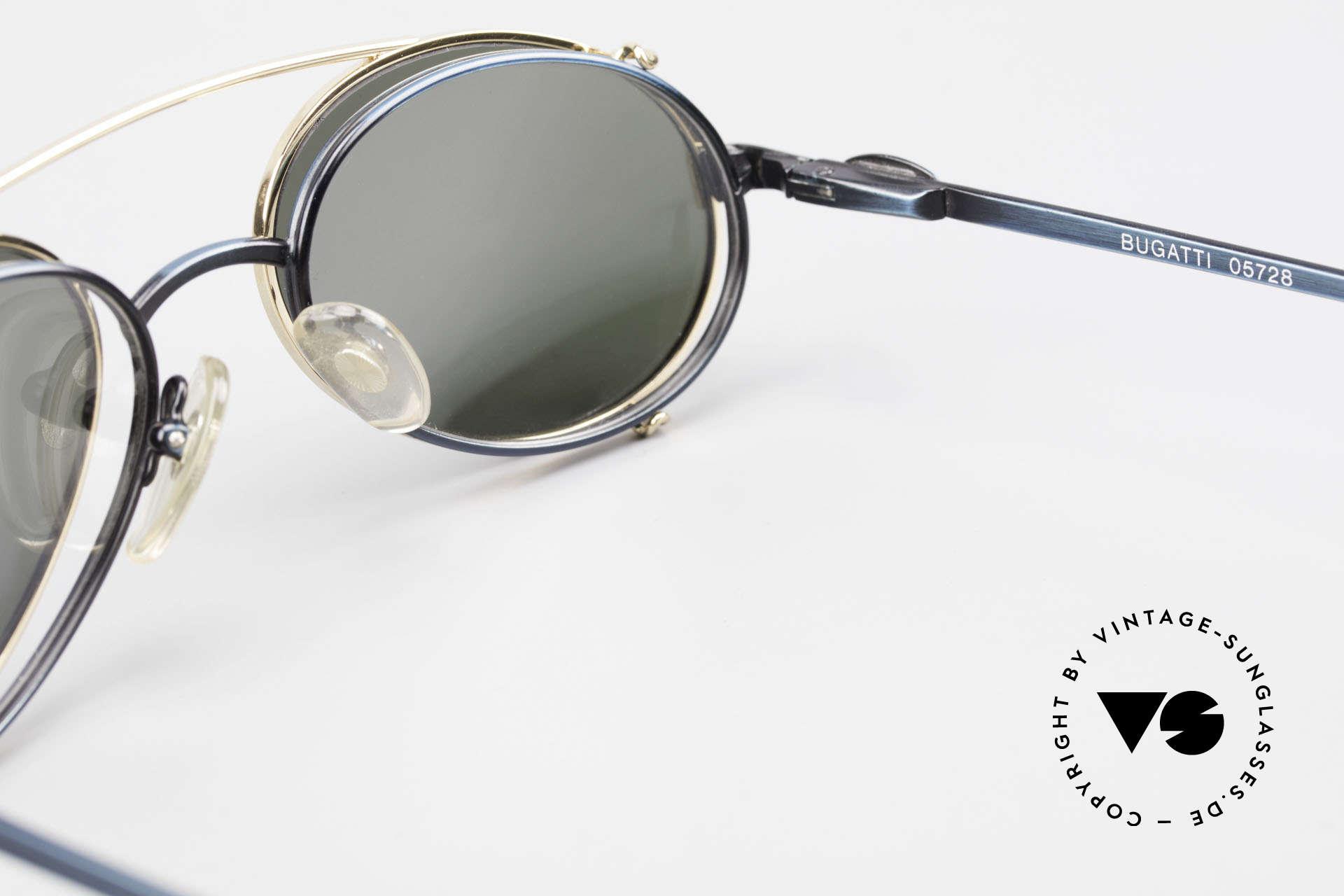 Bugatti 05728 Rare 90's Eyeglasses Clip On, Size: medium, Made for Men
