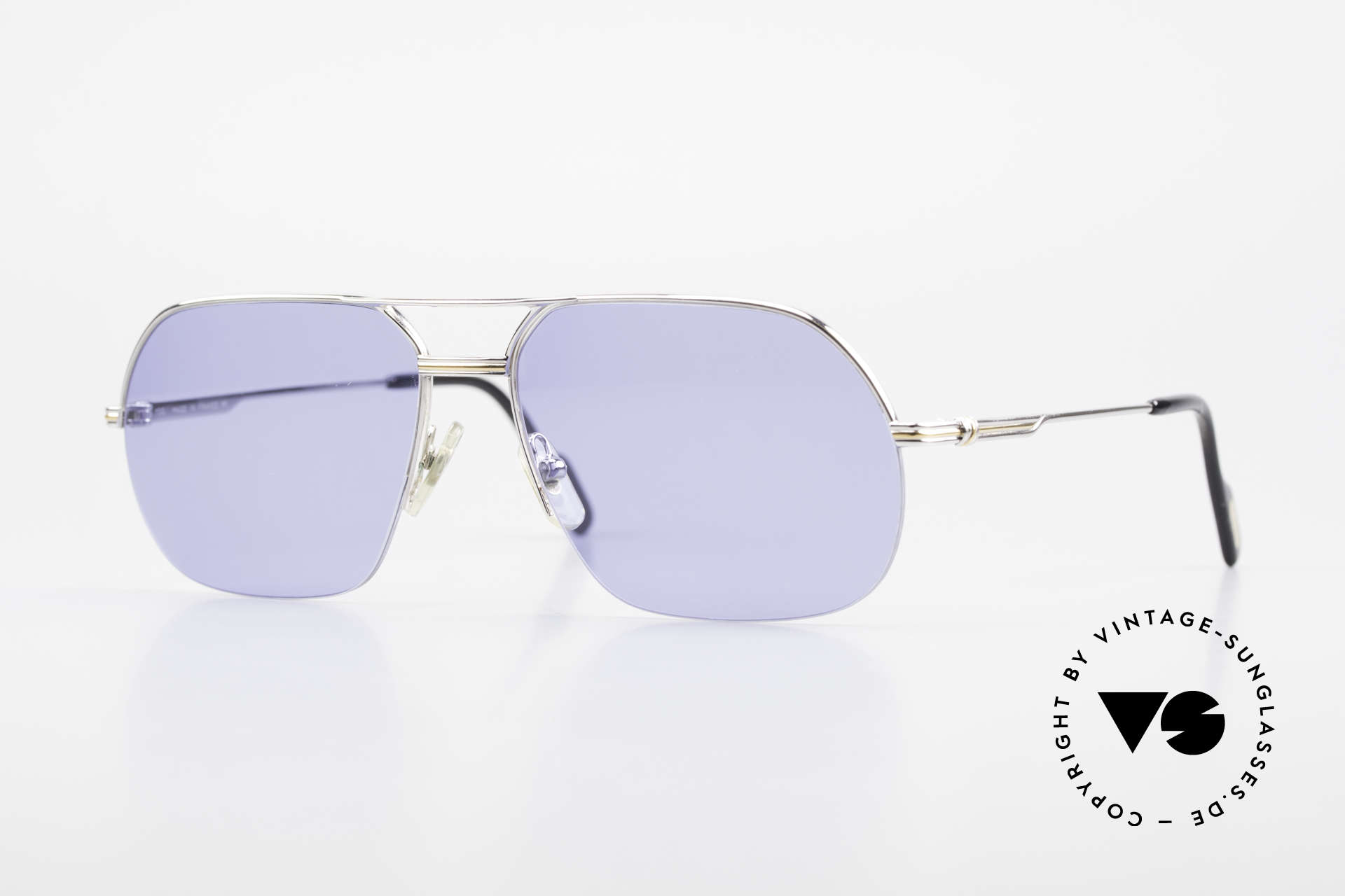 Cartier Orsay Luxury Vintage Sunglasses, striking Cartier vintage sunglasses; size 58°15, 130, Made for Men